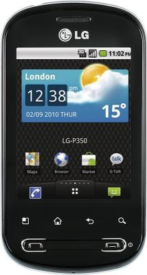 LG Optimus Me P350 Black  ― 71i.ru